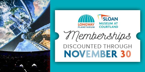 Memberships discounted through November 30
